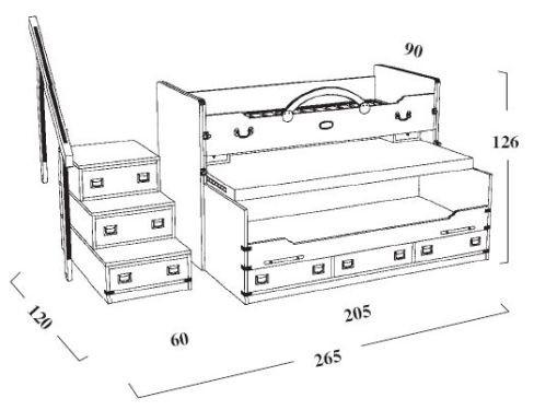 чертежи двухъярусной кровати