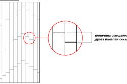 Схема величины смещения при укладке