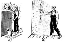 Схема затирки штукатурки