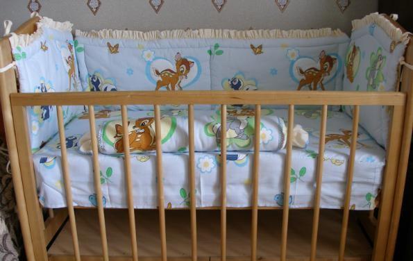 Бортик на детскую кроватку своими руками пошагово