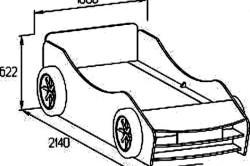 Чертеж кровати машины