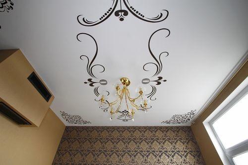 Декоративные узоры на потолке