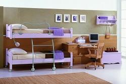 двухъярусная кровать с передвижным нижним ярусом