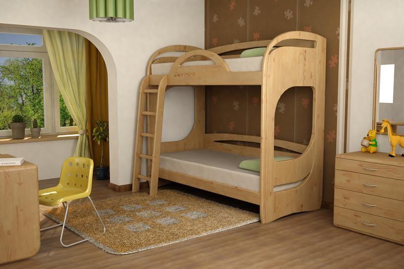 Кровать двухъярусная детская из фанеры своими руками