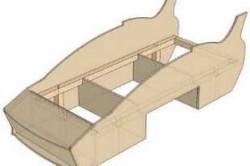 Схема каркаса будущей кроватки