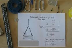 Схема изготовления подвесной колыбели