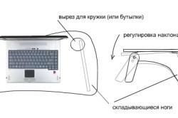 Самодельный столик для ноутбука