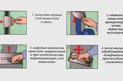 Этапы шпаклевки и выравнивания швов на потолке