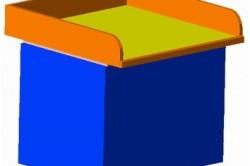 Изображение 1. Общий вид пеленального столика, закрепленного на тумбочке