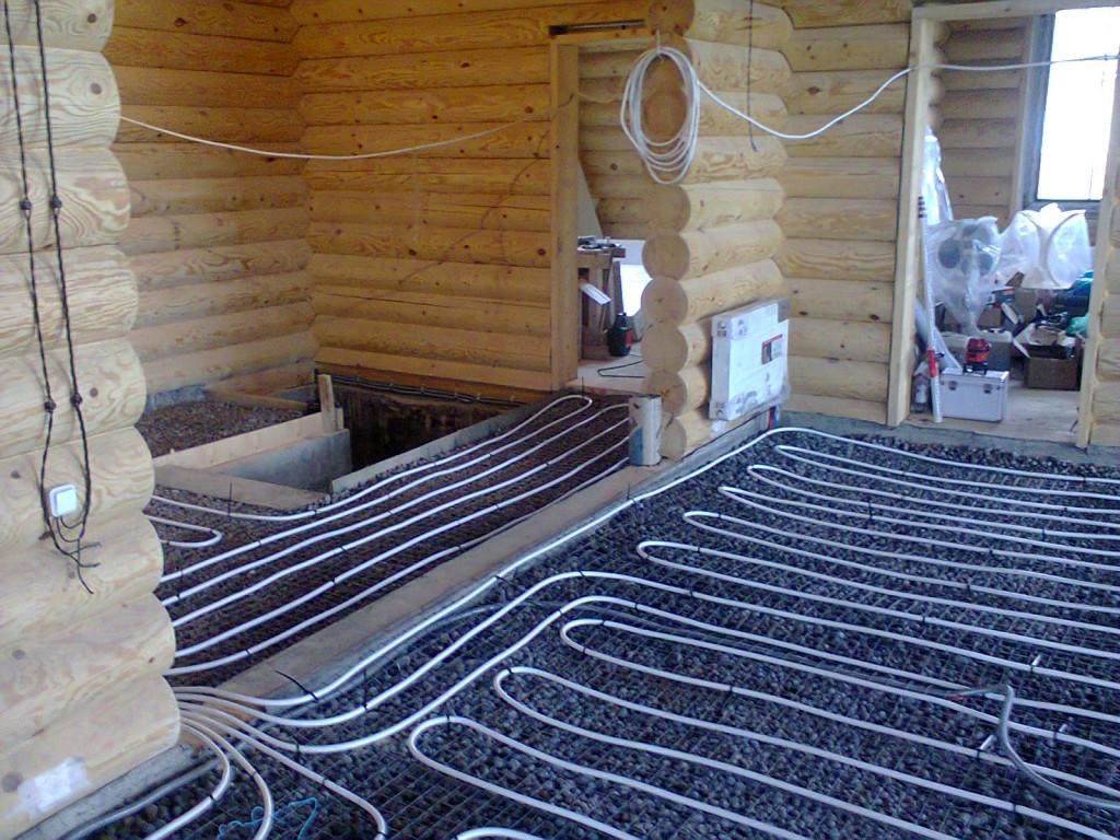 Теплые полы водяные своими руками для дома