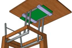 Вариант конструкции стола-трансформера