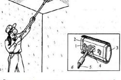 Выравнивание потолка с помощью шарнирной терки