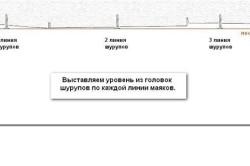 Схема выравнивания потолка с помощью штукатурки