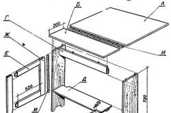 Схематическое изображение раскладного стола
