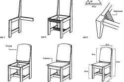 Схема устройство детского деревянного стульчика
